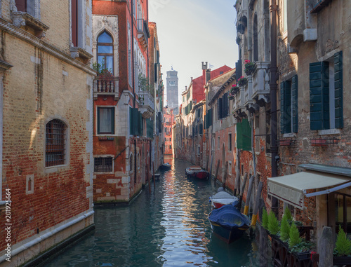 picturesque canal in one of the less famous districts of Venice - 201925664