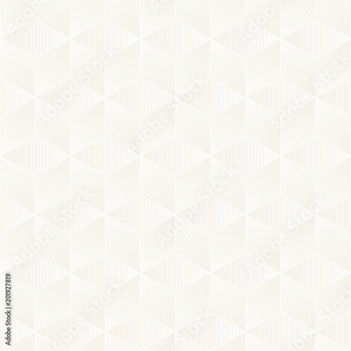 Vector seamless lattice pattern. Modern stylish texture with monochrome trellis. Repeating geometric grid. Simple design background. - 201927819