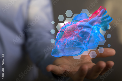 Foto Murales  heart pulse healthcare i