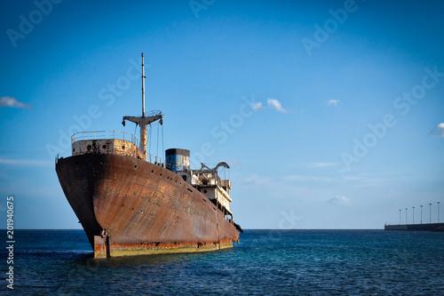 Canvas Schipbreuk Lanzarote shipwreck Temple Hall