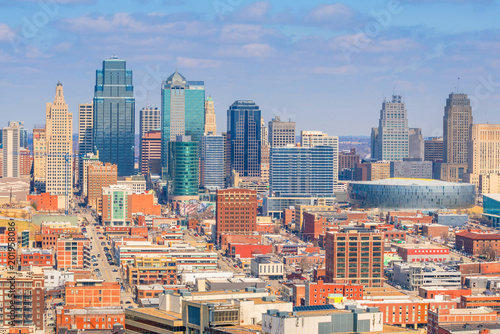 View of Kansas City skyline in Missouri