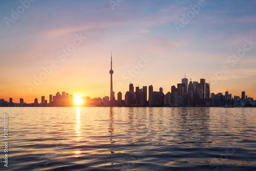 Canvas Toronto Toronto coucher de soleil - Canada