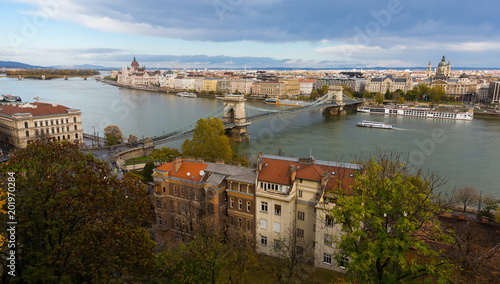 Fridge magnet Hungarian Parliament and Budapest Chain Bridge
