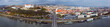 Panoramic view on Bratislava old town over the Danube river - 201970494