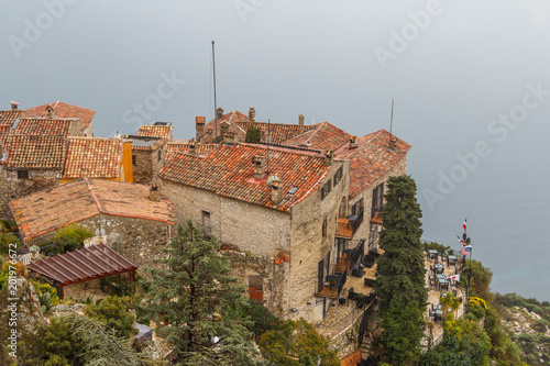 Foto Murales View to the roofs of Eze medieval village, Provence, France