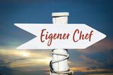 Schild 317 - Eigener Chef - 201985013