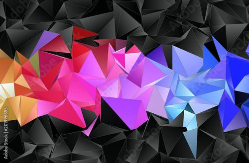 Fototapeta Abstract background. mosaic triangulated texture