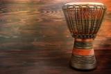drum djembe on a dark background