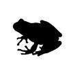 Icono plano silueta rana en color negro