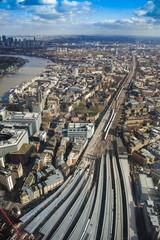 aerial view of London city skyline, panorama