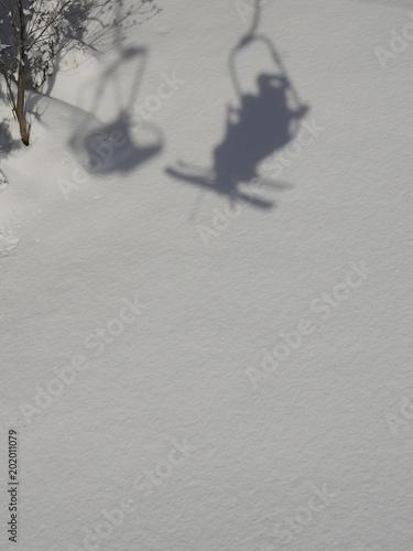 Foto Murales Shadow of chair lift