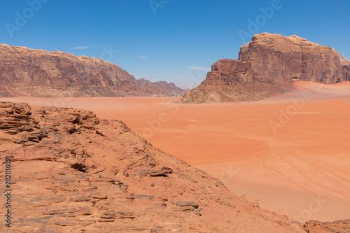 Fotobehang Koraal Wadi Rum desert landscape,Jordan