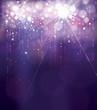 Vector violet lights background. Holiday background.