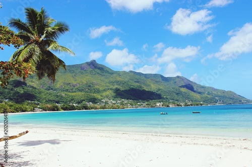 Aluminium Tropical strand Paradise in Seychelles, August 2016