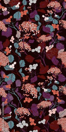 Vintage Seamless Vector Blossom Botanical Pattern Flower Abstract Art Vintage Design - 202026606