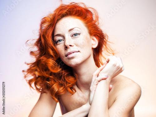 Foto Murales Portrait of a beautiful redhead woman