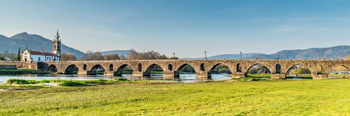 Old stone bridge panoramic