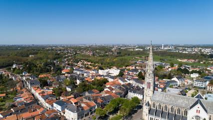 Photo aérienne de la ville de Vertou, près de Nantes