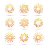 Sun icon set isolated on white background. - 202037080