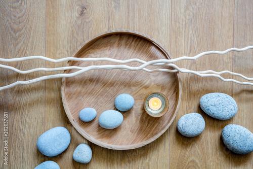 Foto Murales still-life of feng shui beauty, mindfulness, meditation and massage