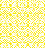 Abstract geometric pattern. A seamless vector background. White and yellow ornament. Graphic modern pattern - 202062810