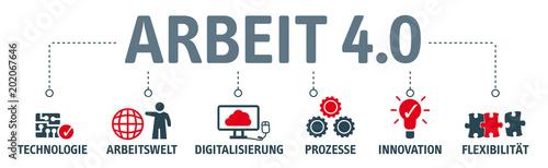 Banner Arbeit 4.0 - Arbeitsformen und Arbeitsverhältnisse © Trueffelpix