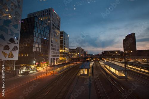 Plexiglas Nacht snelweg Night city background