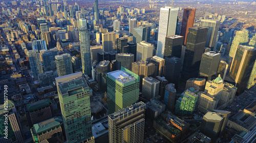Canvas Toronto Aerial view of downtown Toronto area