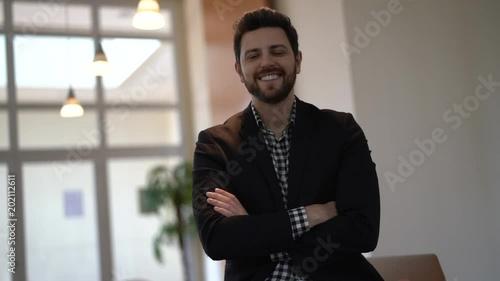 Fridge magnet Business man portrait