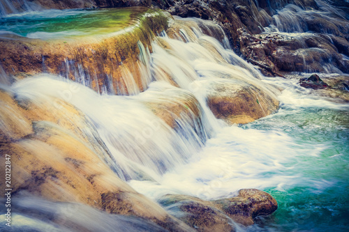Tat Sae Waterfalls. Beautiful landscape. Laos. - 202122847