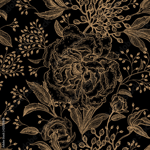 Floral vintage seamless pattern. - 202131615