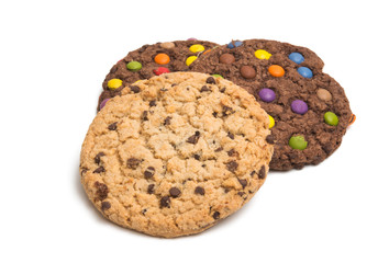 American cookies with colored drops isolated