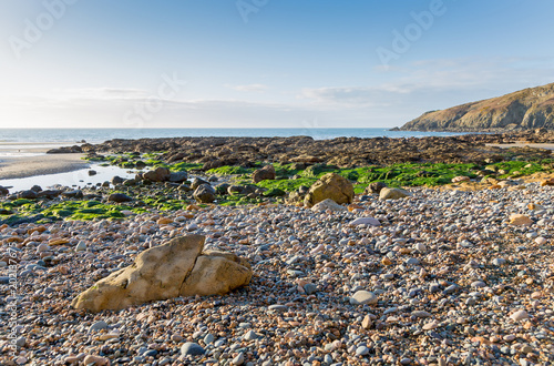 Church Bay in Anglesey North Wales UK at low tide - 202137675