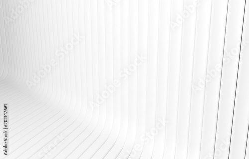 Fototapeta White texture Line surface. Gray abstract pattern. Strips geometric modern. Interior wall 3d background design