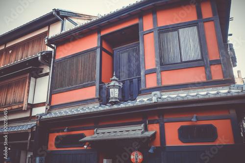 Plexiglas Kyoto Traditional japanese houses, Gion district, Kyoto, Japan