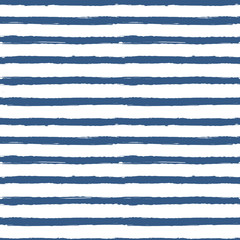 Abstract marine seamless pattern, striped navy pattern. Vector © Ekaterina Druzhinina