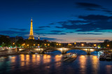 Paris cityscape at sunset - eiffel tower - 202184214