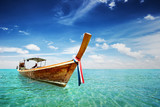 Long Tail boat in Thailand sea - 202184417