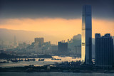 HongKong and Kowloon at sunset - 202184472