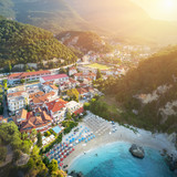 Amazing view to Parga port - beach in Greece at sunrise - 202184639
