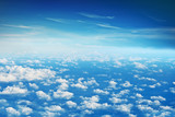 White cloud blue sky from airplane - 202193055