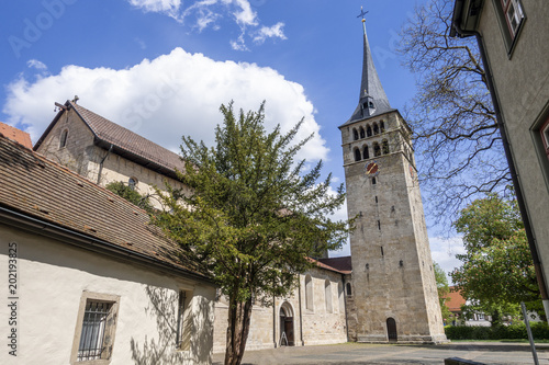 Foto Murales famous church Martinskirche in Sindelfingen germany