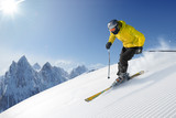Skier in high mountains - 202194044