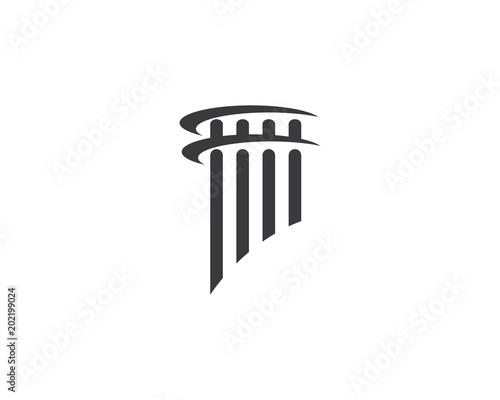 Fototapeta law logo vector