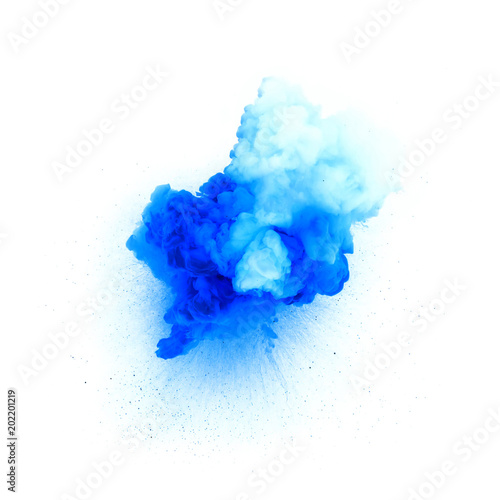 Blue explosion isolated on white background © michalz86