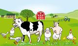 Bauernhof Tiere Illustration. Lustige Karikatur - 202205845