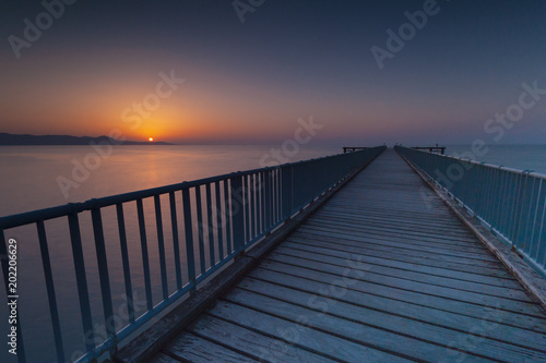 The Sunset over the Pier