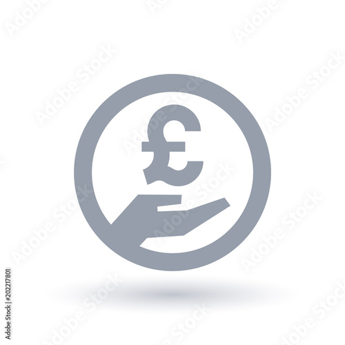 British Pound Hand Symbol Britain Currency Pay Icon Buy Photos