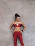 Sportswoman with slim body