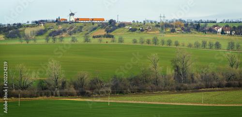 Green fields in South Moravia Region in Spring